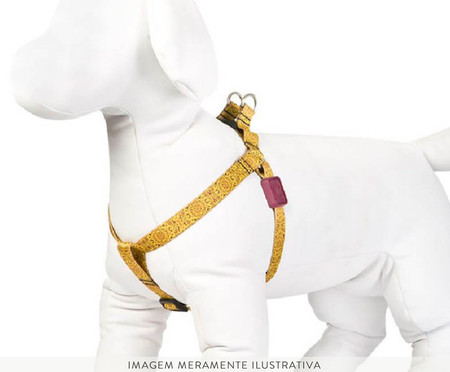 Peitoral para Cachorro Mandala - Amarelo   WestwingNow