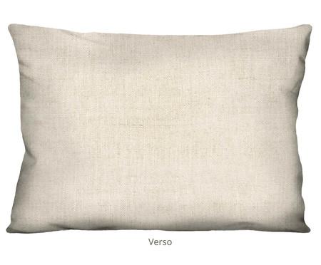 Capa de Almofada em Linho Misto Clinomania ret - Rosa e Bege | WestwingNow