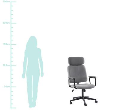 Cadeira Office Gran Chicago - Cinza e Preta | WestwingNow