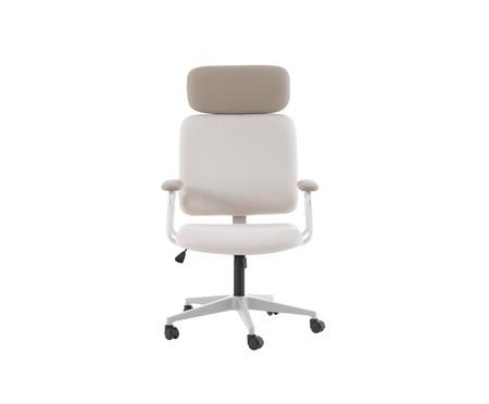 Cadeira Office Gran Chicago - Bege e Branca | WestwingNow