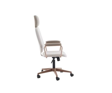 Cadeira Office Gran Chicago - Bege e Rosé | WestwingNow