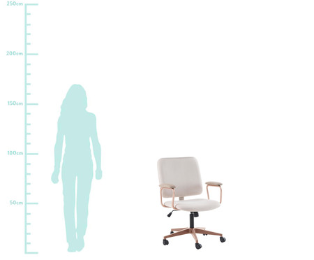 Cadeira Office Chicago - Bege e Rosé | WestwingNow