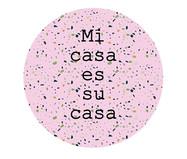 Placa de Madeira Decorativa Mi Casa - Rosa | WestwingNow