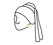Placa de Madeira Decorativa Parede A Menina - Preta | WestwingNow
