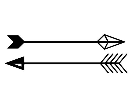 Placa de Madeira Decorativa Flechas Boho Chic - Preta, Preto | WestwingNow