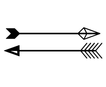 Placa de Madeira Decorativa Flechas Boho Chic - Preta | WestwingNow