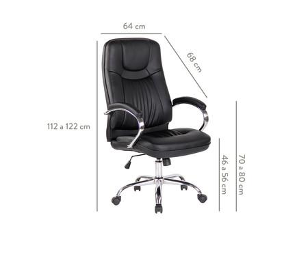 Cadeira de Escritório Villani - Preta | WestwingNow