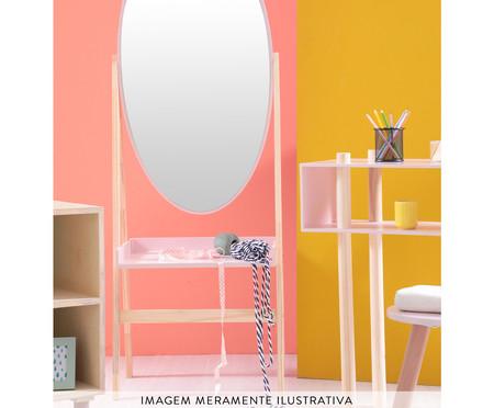 Estante com Espelho Loa - Rosa Queimado | WestwingNow