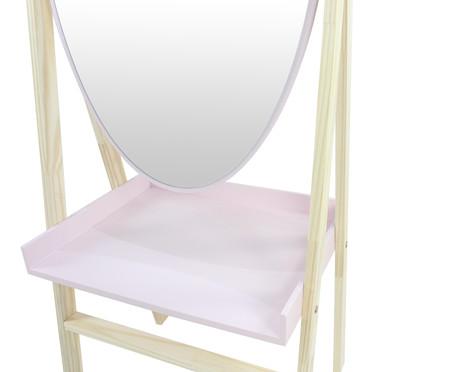 Estante com Espelho Loa - Rosa Queimado   WestwingNow