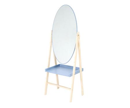Estante com Espelho Loa - Cinza Frio | WestwingNow
