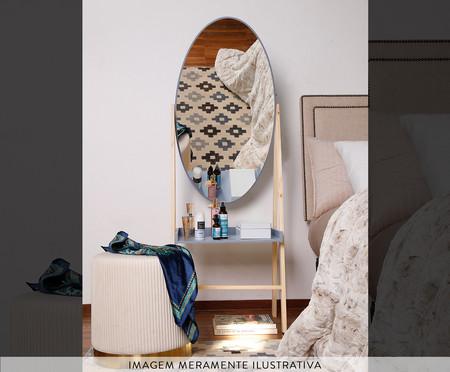 Estante com Espelho Loa - Cinza Frio   WestwingNow