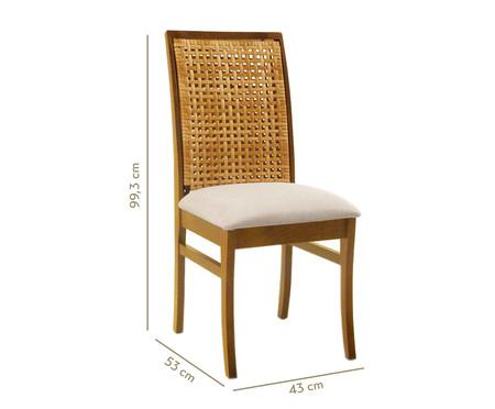 Cadeira em Madeira Lille - Bege e Natural | WestwingNow
