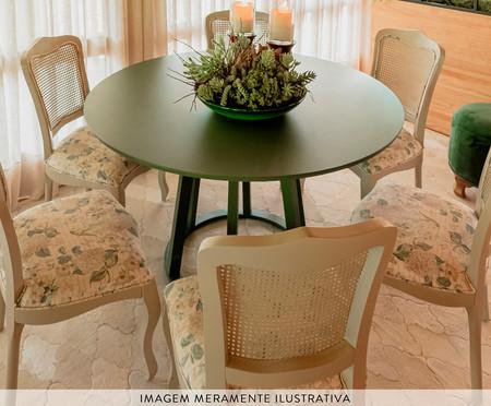 Mesa de Jantar Redonda Sol - Verde Olivia | WestwingNow