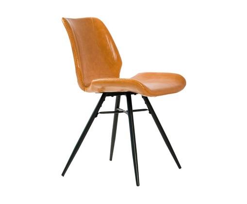 Cadeira em Couro Dylan - Marrom, Marrom | WestwingNow
