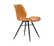 Conjunto de Cadeiras em Couro Dylan - Marrom | WestwingNow