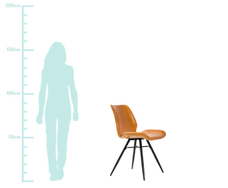 Jogo de Cadeiras em Couro Dylan - Marrom | WestwingNow