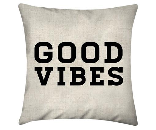 Capa de Almofada em Algodão Good Vibes, Branco | WestwingNow