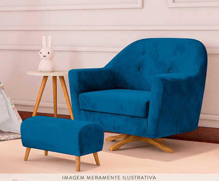 Pufe Kler - Azul Marinho | WestwingNow
