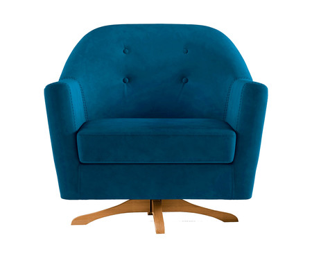 Poltrona de Balanço Giratória Kler - Azul Marinho | WestwingNow