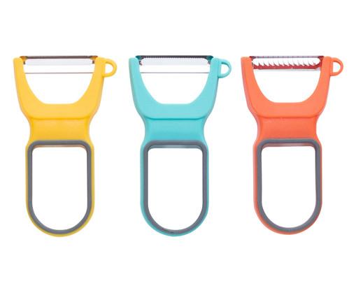 Jogo de Descascadores em Inox Roosevelt - Colorido, Multicolorido | WestwingNow