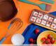 Batedor de Ovos com Raspador em Inox Lucca - Azul, Azul   WestwingNow