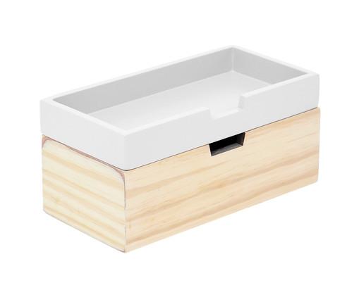 Caixa Organizadora Olsen Branca - 28x12cm, Branco   WestwingNow