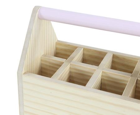 Caixa Organizadora com Divisórias Olan Rosa Queimado - 25x20cm | WestwingNow