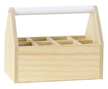 Caixa Organizadora com Divisórias Olan Branca - 25x20cm | WestwingNow