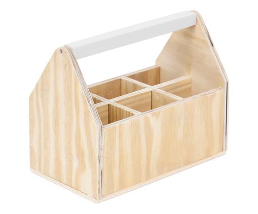 Caixa Organizadora com Divisórias Olan Branca - 25x20cm, Branco | WestwingNow