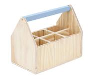 Caixa Organizadora com Divisórias Cinza Frio - 25x20cm | WestwingNow
