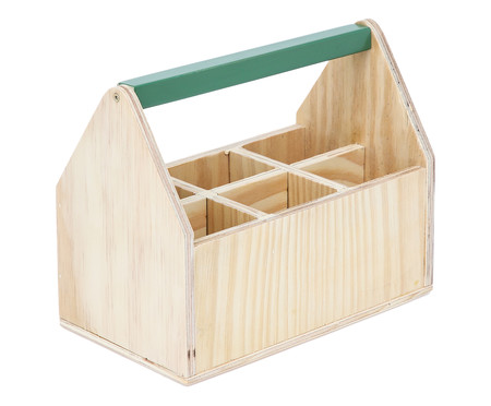 Caixa Organizadora com Divisórias Olan Floresta - 25x20cm | WestwingNow