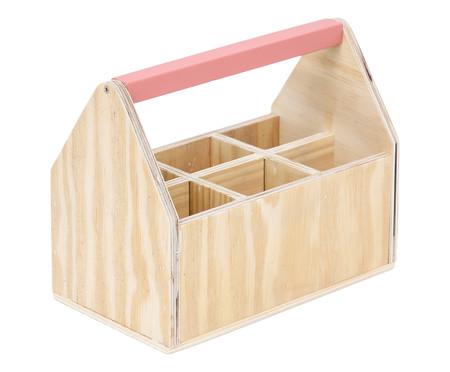 Caixa Organizadora com Divisórias Olan Terracota - 25x20cm | WestwingNow
