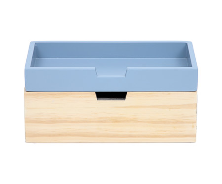 Caixa Organizadora Olsen Cinza Frio - 28x12cm | WestwingNow
