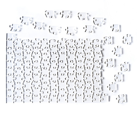 Jogo de Quebra-Cabeça Transparente  Difícil com Moldura Preta | WestwingNow