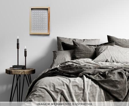 Jogo de Quebra-Cabeça Transparente  Médio com Moldura Madeira | WestwingNow