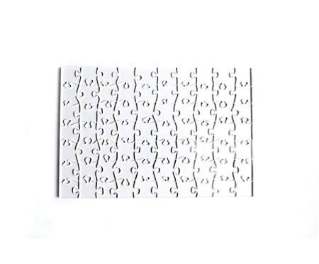 Jogo de Quebra-Cabeça Transparente  Médio com Moldura Preta | WestwingNow