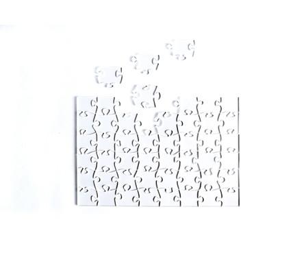 Jogo de Quebra-Cabeça  Transparente  Fácil com Moldura Madeira | WestwingNow