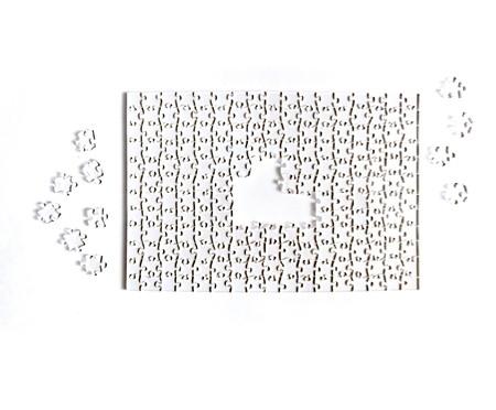 Jogo de Quebra-Cabeça Transparente  Impossível com Moldura Preta | WestwingNow