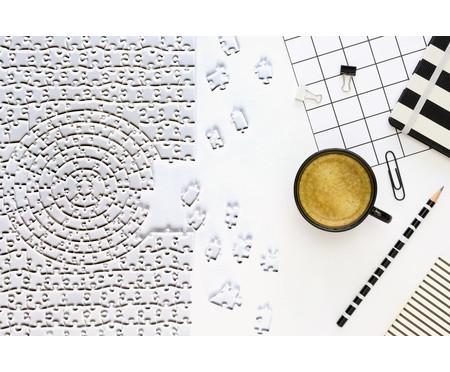 Jogo de Quebra-Cabeça Transparente  Misto com Moldura Preta | WestwingNow