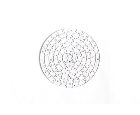 Jogo de Quebra-Cabeça Transparente  Insano com Moldura Madeira | WestwingNow