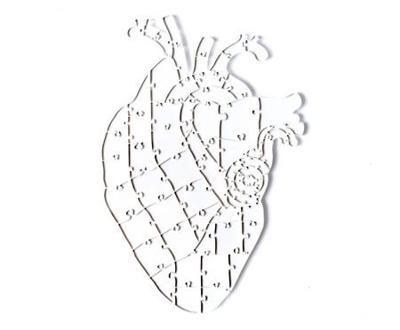 Jogo de Quebra-Cabeça Transparente  Heart com Moldura Madeira   WestwingNow