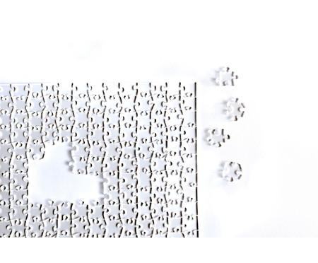 Jogo de Quebra-Cabeça Transparente  Impossível com Moldura Madeira | WestwingNow