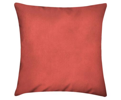 Capa de Almofada em Linho Misto Lauren - Coral, Vermelho | WestwingNow