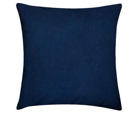 Capa de Almofada em Linho Misto Lauren - Azul índigo | WestwingNow