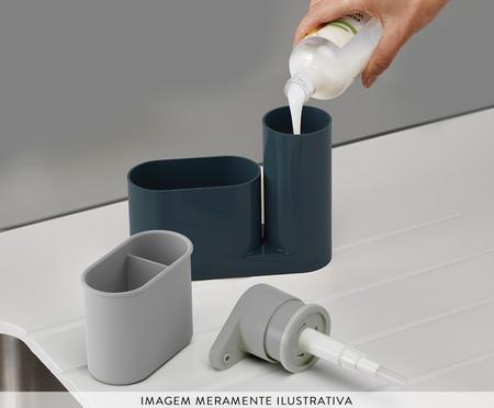 Conjunto de Dispenser de Sabonete Líquido e Porta Esponja Davis - Azul   WestwingNow