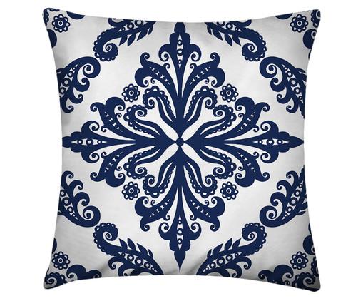 Capa de Almofada em Linho Misto Gabriel, Branco, Azul | WestwingNow