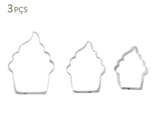 Jogo de Cortadores Cupcake - Prata, Prata | WestwingNow