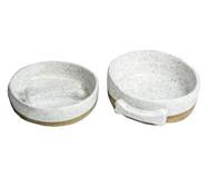 Conjunto em Cerâmica Comedouro Lento Yana - Branco | WestwingNow