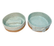 Conjunto em Cerâmica Comedouro Lento Yana - Azul | WestwingNow