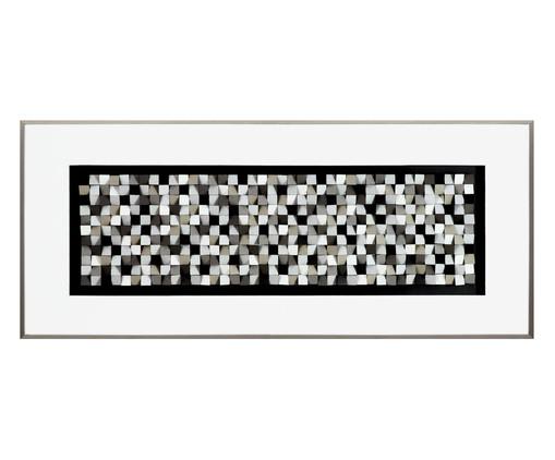 Quadro com Vidro com Vidro Pixel Tis Branco e Cinza - 156x66, Multicolorido   WestwingNow